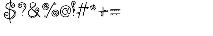 PizPaz Handwriting Regular Font OTHER CHARS