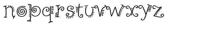 PizPaz Handwriting Regular Font LOWERCASE