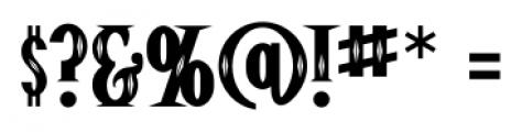 Pistolero Deco BB Regular Font OTHER CHARS