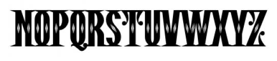 Pistolero Deco BB Regular Font UPPERCASE