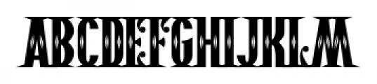 Pistolero Deco BB Regular Font LOWERCASE