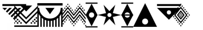 PIXymbols Africa Regular Font UPPERCASE