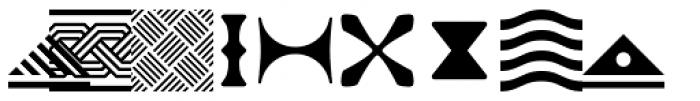 PIXymbols Africa Regular Font LOWERCASE