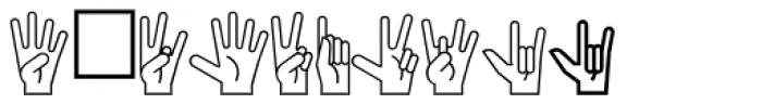 PIXymbols Ameslan Italic Font OTHER CHARS