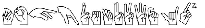 PIXymbols Ameslan Italic Font UPPERCASE