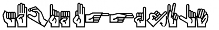 PIXymbols Ameslan Italic Font LOWERCASE