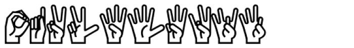 PIXymbols Ameslan Regular Font OTHER CHARS