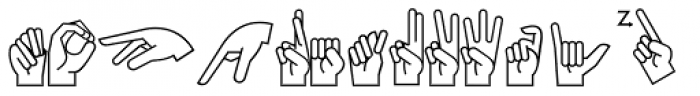 PIXymbols Ameslan Regular Font UPPERCASE