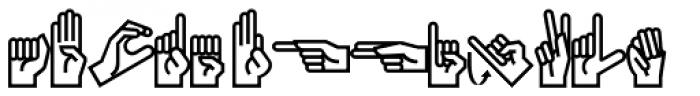PIXymbols Ameslan Regular Font LOWERCASE