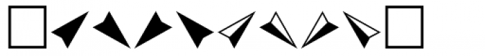 PIXymbols Arrows Italic Font OTHER CHARS