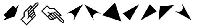 PIXymbols Arrows Italic Font LOWERCASE