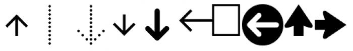 PIXymbols Arrows Regular Font UPPERCASE