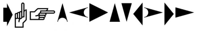 PIXymbols Arrows Regular Font LOWERCASE