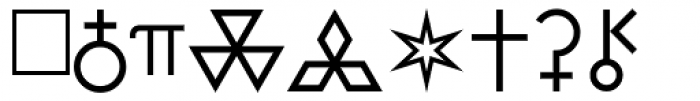 PIXymbols Astro Italic Font UPPERCASE
