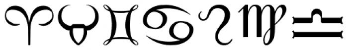 PIXymbols Astro Regular Font UPPERCASE