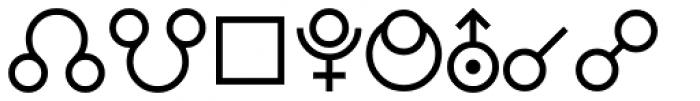 PIXymbols Astro Regular Font LOWERCASE
