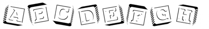 PIXymbols Baby Blocks Font LOWERCASE