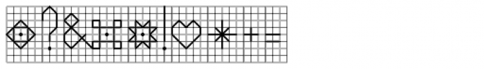 PIXymbols Backstitch Regular Font OTHER CHARS