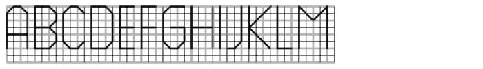 PIXymbols Backstitch Regular Font UPPERCASE