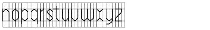 PIXymbols Backstitch Regular Font LOWERCASE