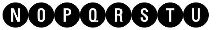 PIXymbols Bcircle Bold Font UPPERCASE