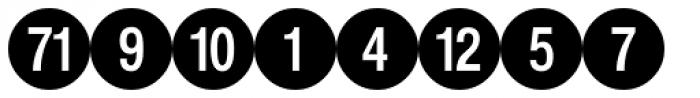 PIXymbols Bcircle Bold Font LOWERCASE