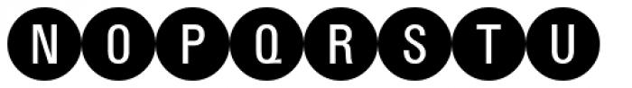 PIXymbols Bcircle Regular Font UPPERCASE