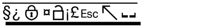 PIXymbols Boxkey Italic Font OTHER CHARS