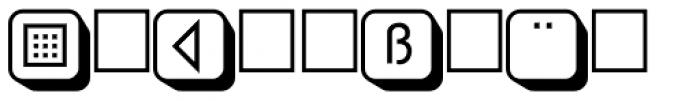 PIXymbols Boxkey Two Bold Font LOWERCASE