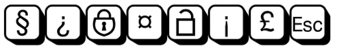 PIXymbols Boxkey Two Italic Font OTHER CHARS