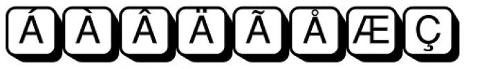 PIXymbols Boxkey Two Italic Font UPPERCASE