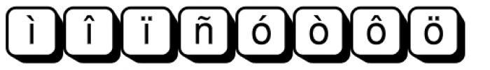 PIXymbols Boxkey Two Italic Font LOWERCASE