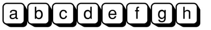 PIXymbols Boxkey Two Regular Font LOWERCASE