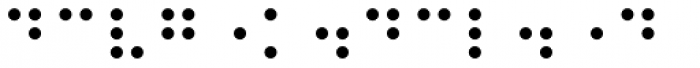 PIXymbols Braille Italic Font OTHER CHARS
