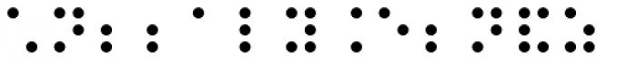 PIXymbols Braille Italic Font LOWERCASE
