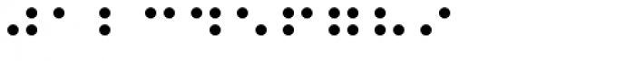 PIXymbols Braille Regular Font OTHER CHARS