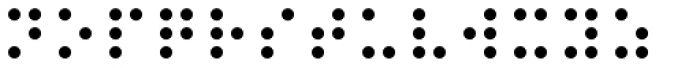PIXymbols Braille Regular Font LOWERCASE