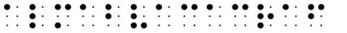 PIXymbols BrailleReader Italic Font OTHER CHARS