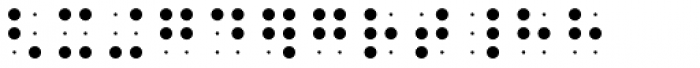 PIXymbols BrailleReader Italic Font UPPERCASE