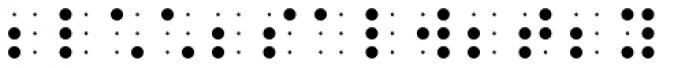 PIXymbols BrailleReader Italic Font LOWERCASE