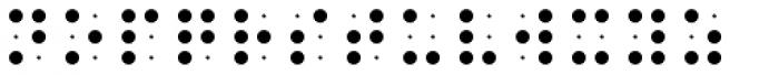 PIXymbols BrailleReader Regular Font LOWERCASE