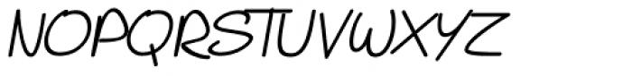 PIXymbols Casual Italic Font UPPERCASE