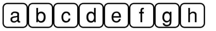 PIXymbols Command Regular Font LOWERCASE