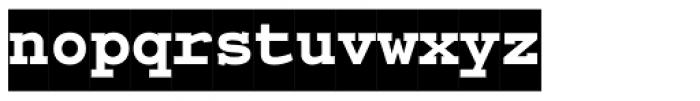 PIXymbols Courex Black Regular Font LOWERCASE