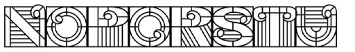 PIXymbols Deco Glass Font UPPERCASE