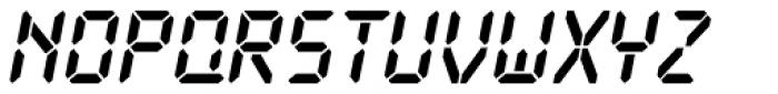 PIXymbols Digit Bold Italic Font UPPERCASE
