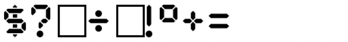 PIXymbols Digit Bold Font OTHER CHARS