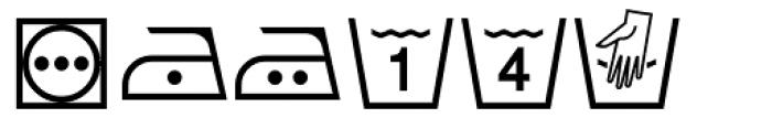 PIXymbols FabricCare Regular Font LOWERCASE