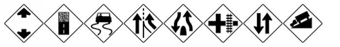 PIXymbols Highway Signs Font UPPERCASE