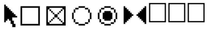 PIXymbols MACmenu Italic Font OTHER CHARS